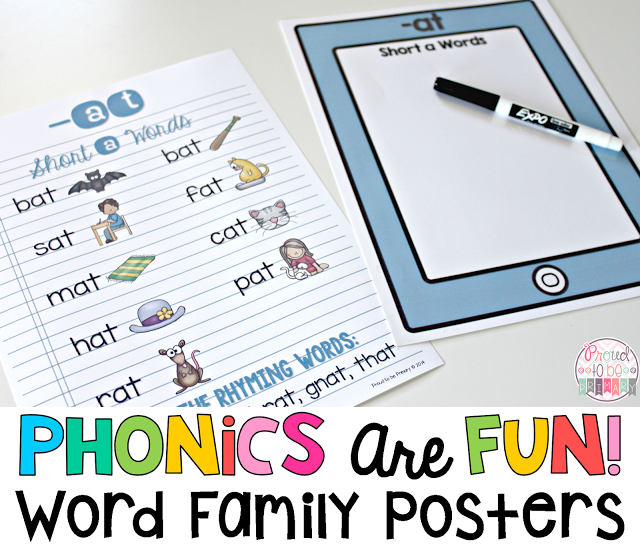 Word Families: Proven Method for Teaching Reading - word family posters
