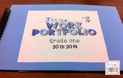 FREE student portfolios sheet