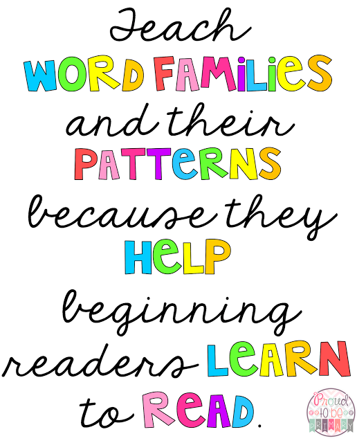 Word Families: Proven Method for Teaching Reading - why