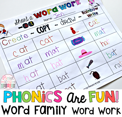 Word Families: Proven Method for Teaching Reading - word family word work