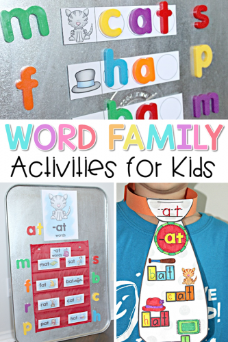 word families ideas and activities for teaching