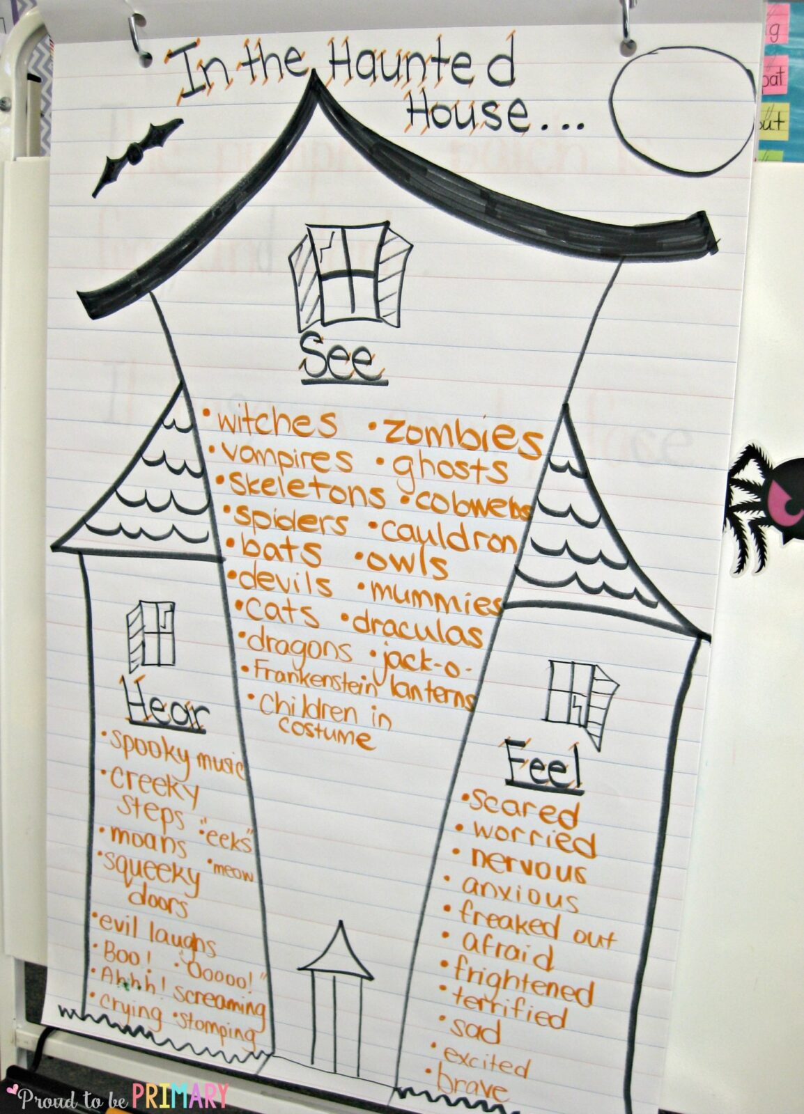 Halloween Spooky House Drawing.Halloween Writing Kids Will Scream About A Haunted House