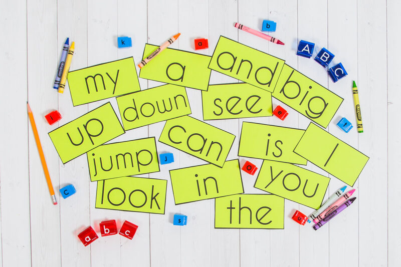 sight word word cards