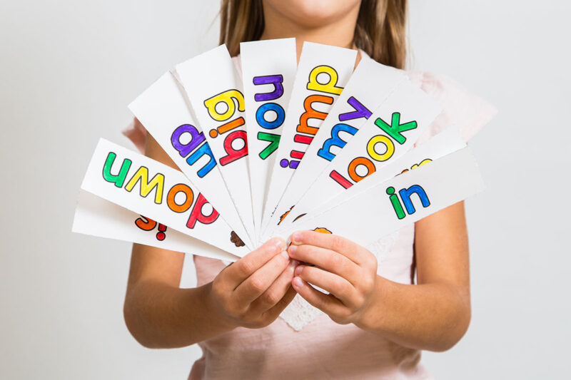 sight word rainbow word cards