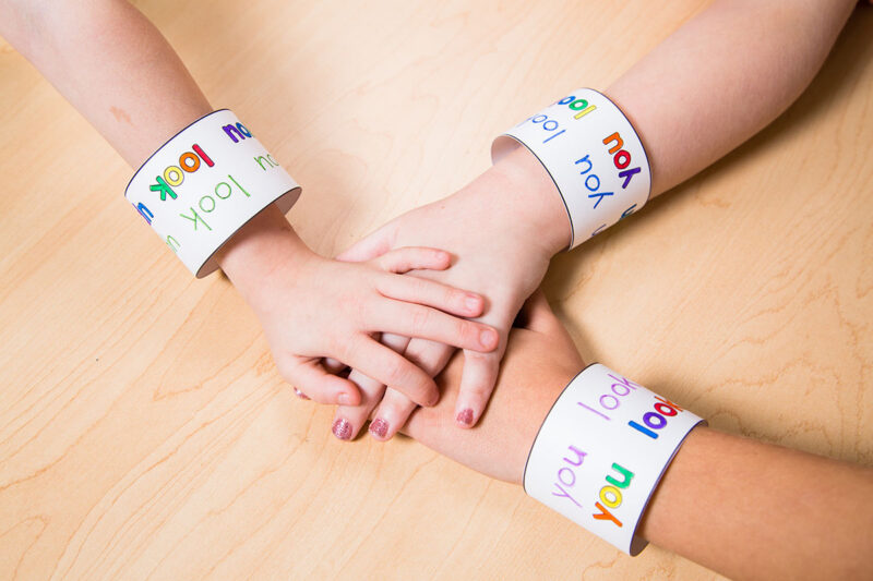 sight word bracelets