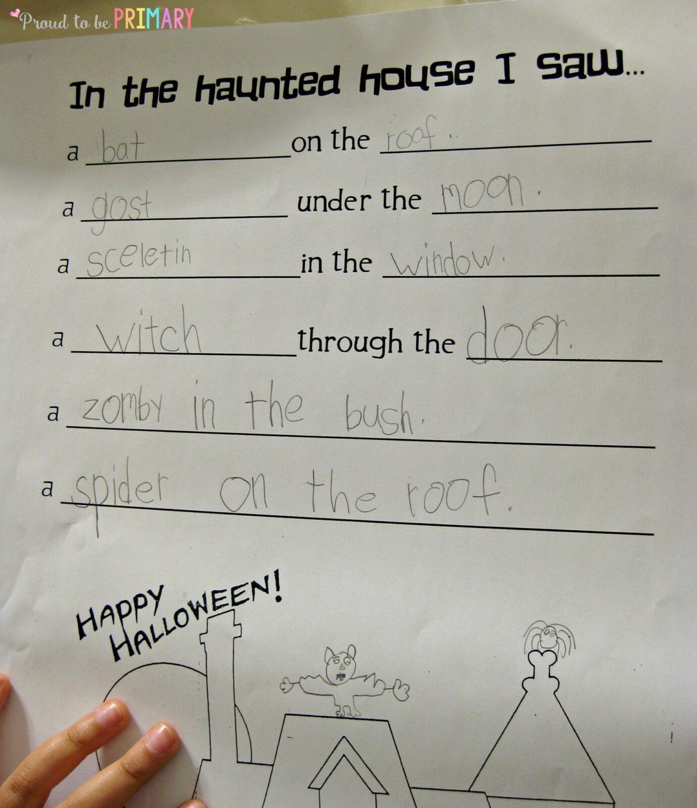 halloween writing kids will scream about