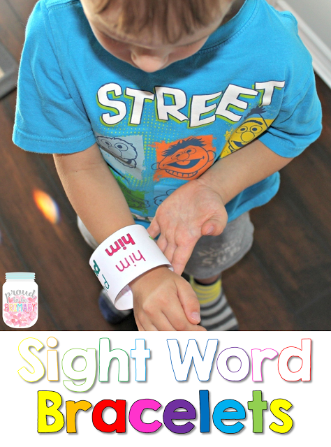 learning sight words - bracelets