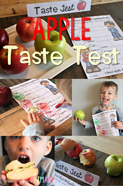apple activities - apple taste test