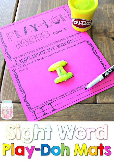 learning sight words - playdough mats