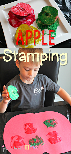 apple activities - apple stamping
