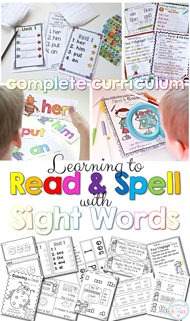 learning sight words - complete curriculum