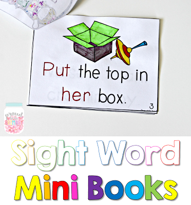 learning sight words - mini books