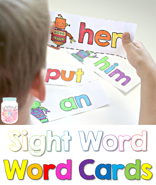 learning sight words - words to color