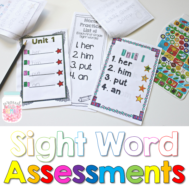 learning sight words - assessments