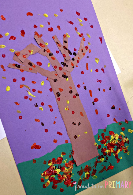 fall arts and crafts - fall tree art