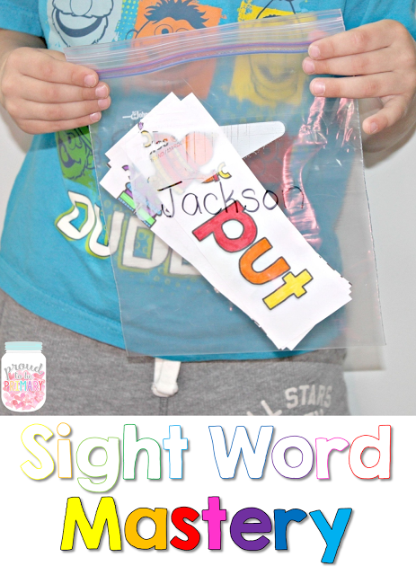 learning sight words - mastery