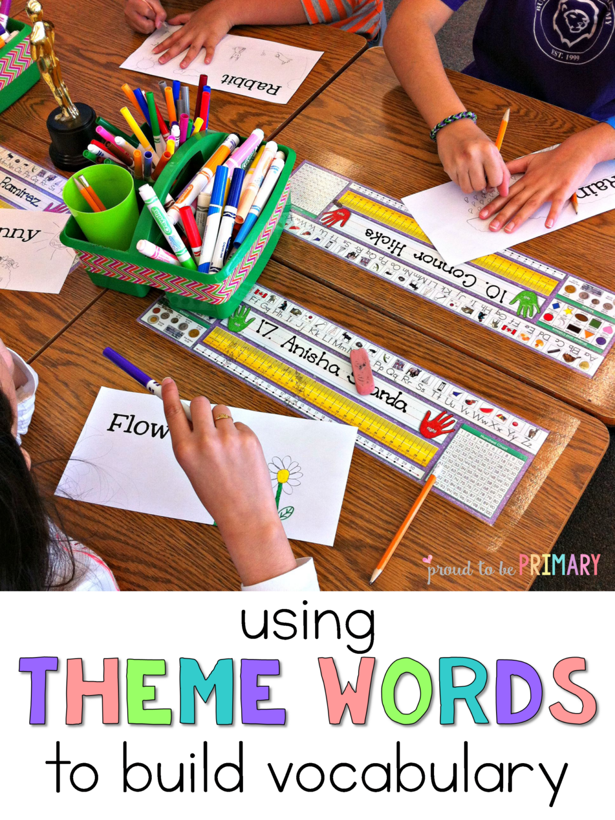 Building student vocabulary with theme words for Construction vocabulary