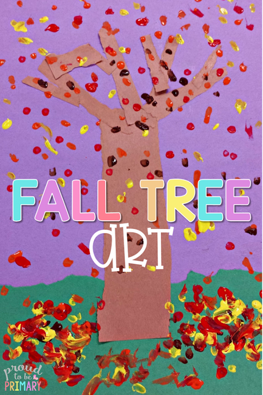 fall arts and crafts - tree art
