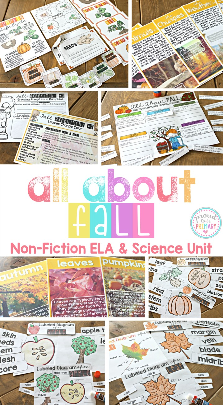 all about fall - nonfiction ELA and Science unit