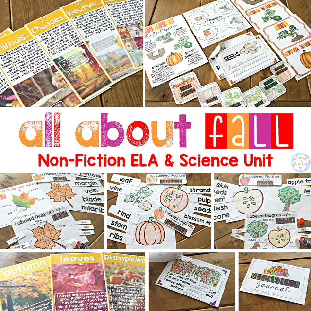 Fall Science and Non-Fiction Classroom Activities for Kids