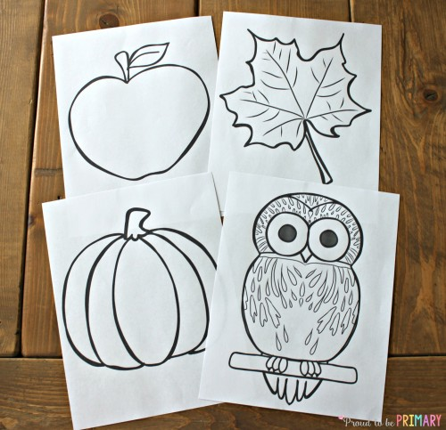 Fall Art Projects: apple leaf pumpkin owl