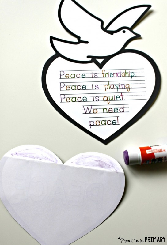 Beautiful peace craft so easy and inspirational for your for Peace crafts for sunday school