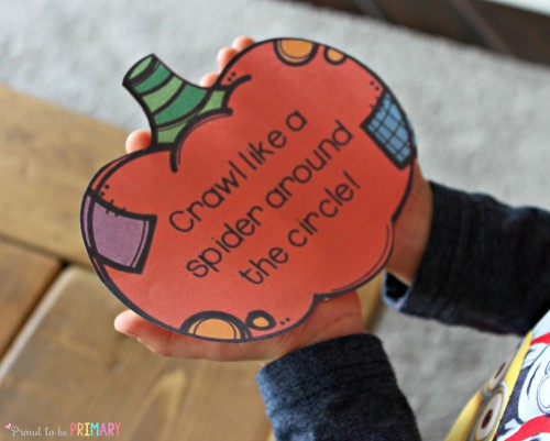 fun Halloween activities for kids - action pumpkins