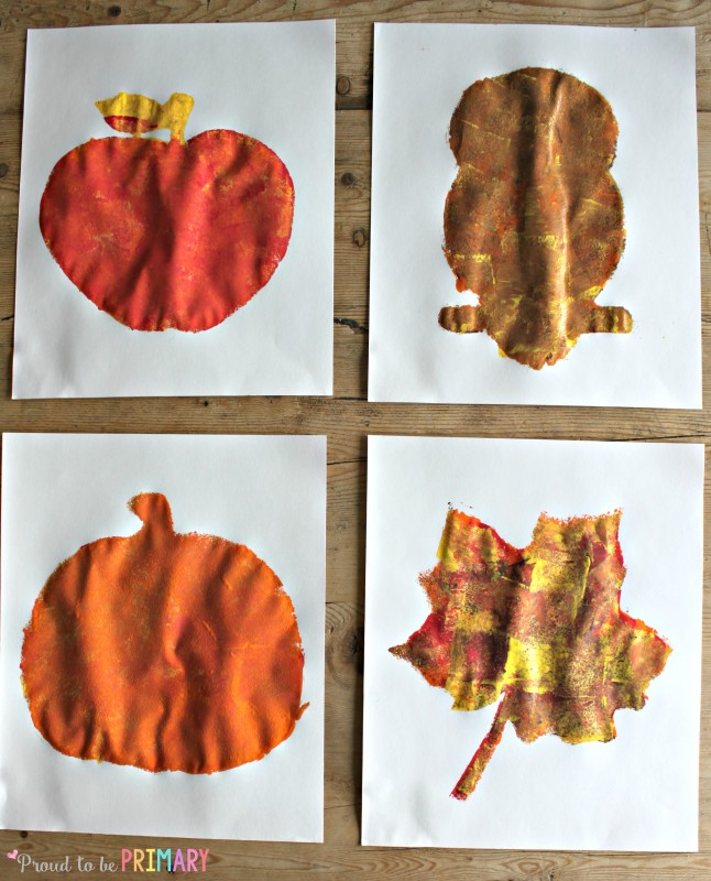 Fall Art Projects: sponge art