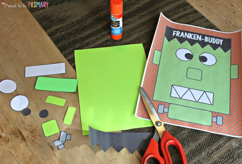 Fun Halloween Activities for Kids by Proud to be Primary, including a Frankenbuddy craft and Action Pumpkins game.