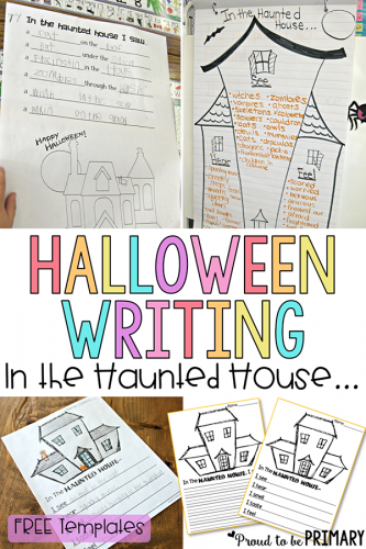 halloween writing - haunted house
