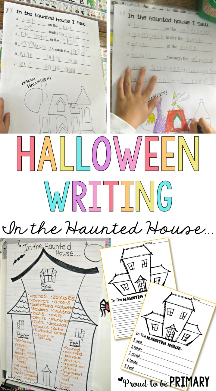 Check out this FREE Halloween haunted house writing lesson for primary teachers called
