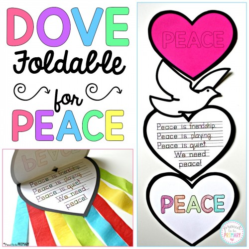 FREE dove peace foldable writing craftivity