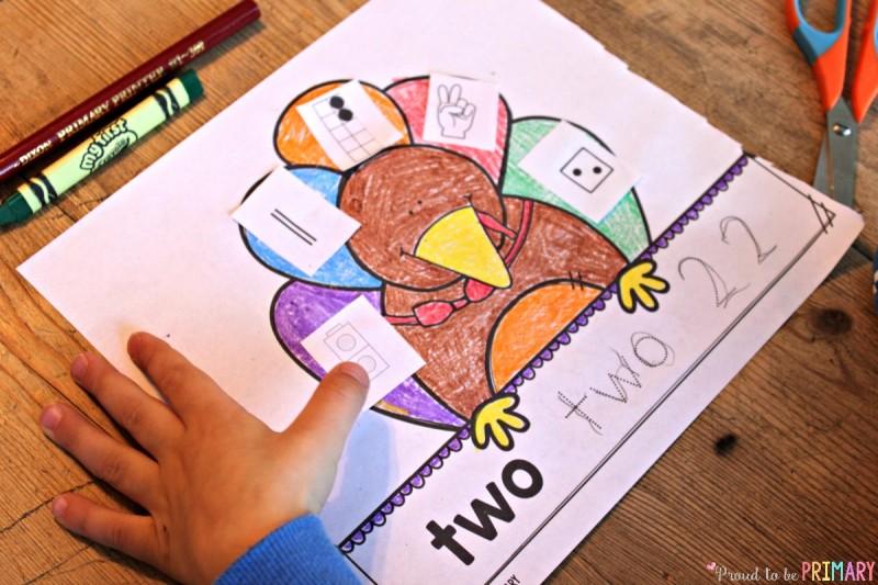 FREE Building number sense turkeys printable activity!