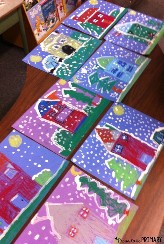 Winter art project: art display