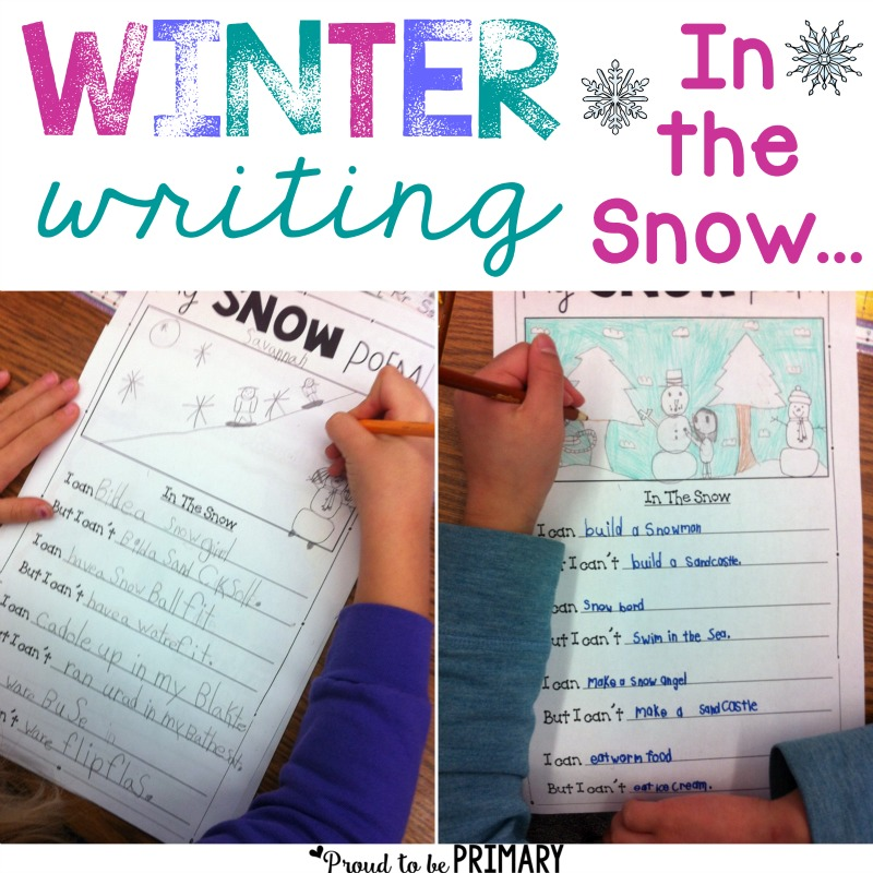 Winter Snow Poetry Writing Activity