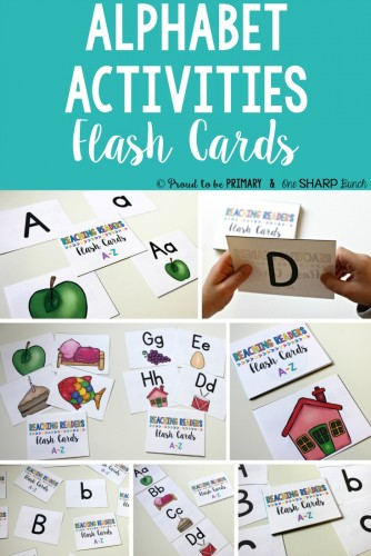 alphabet activities for small groups - alphabet flash cards