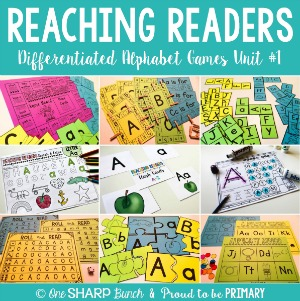 Reaching Readers Differentitaed Alphabet Games Unit 1