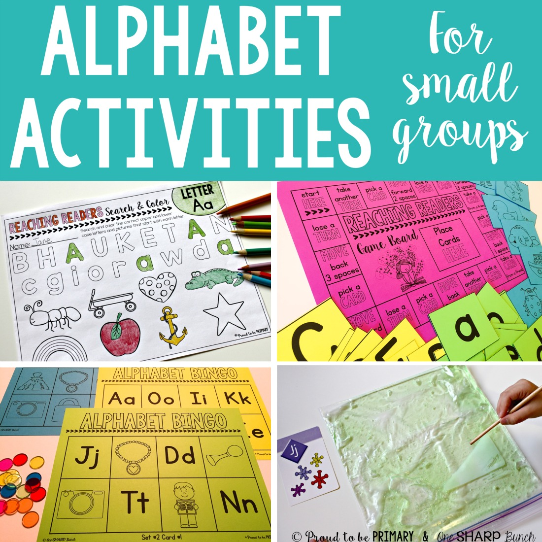 Alphabet activities for small groups alphabet activities for preschool and kindergarten kids the teaching ideas are for small group guided spiritdancerdesigns Choice Image