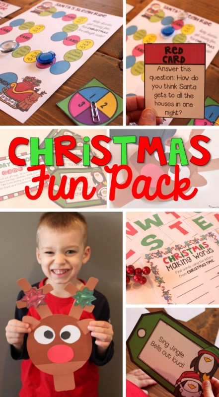 Christmas FUN literacy, math, and reindeer craftivitiy by Proud to be Primary
