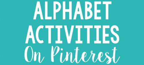 alphabet activities for small groups - pinterest ideas