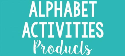 alphabet activities for small groups - products and resources