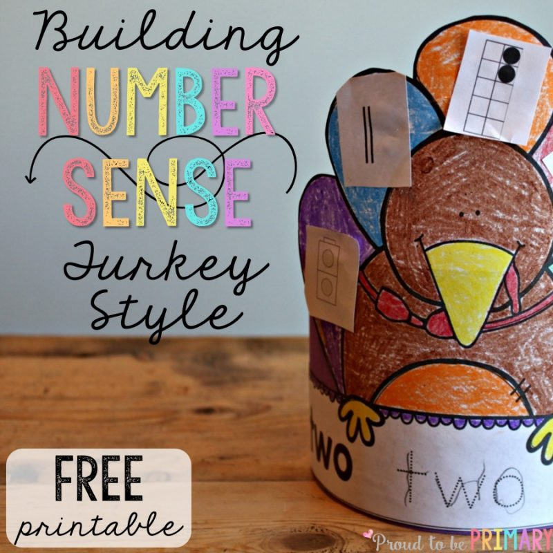 Building Number Sense Turkeys