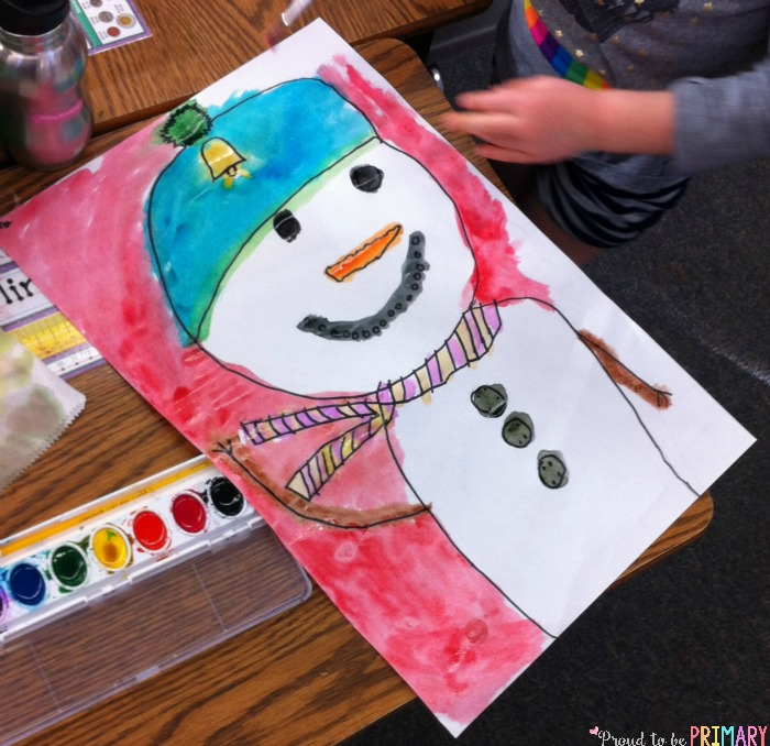 Do you love teaching directed drawings in your primary classroom? Teachers will adore the winter friend snowman directed drawing art activity.