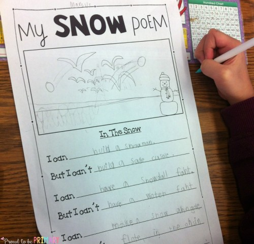 Snow Poetry: Winter Writing in the Snow - printable