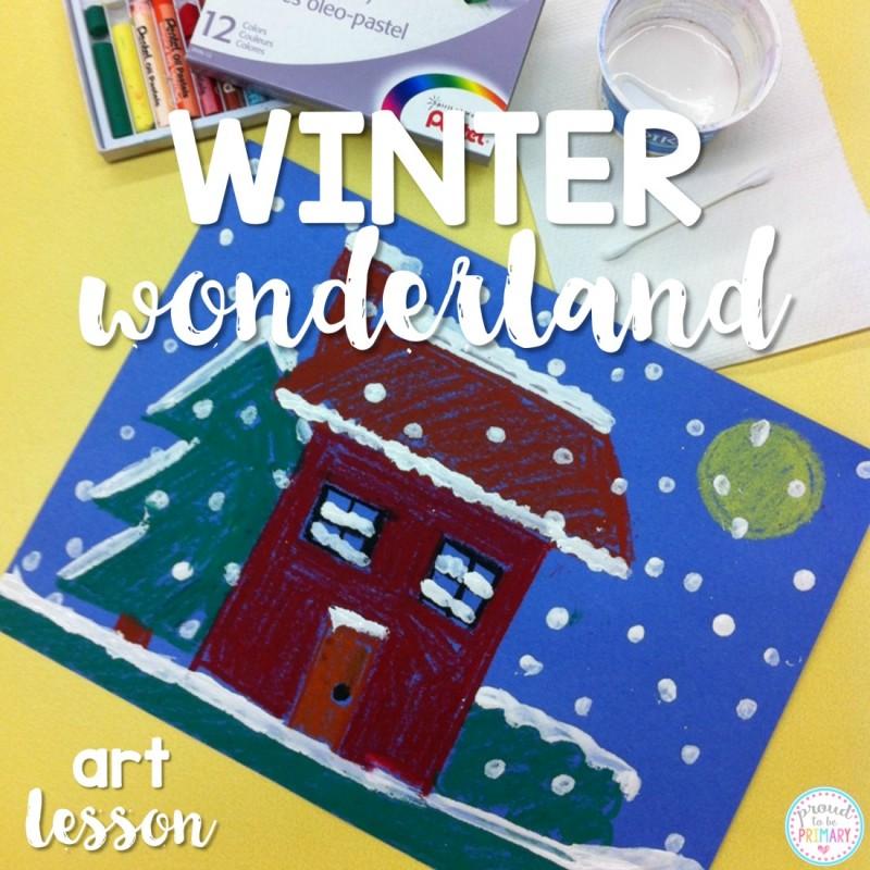 Winter art project: Winter Wonderland Art Lesson