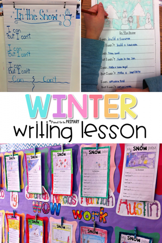 winter writing lesson