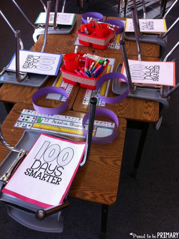 100 Days Smarter hat activities from Kinder Craze