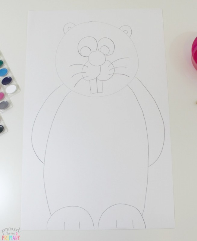 Are you searching for the perfect idea for an arts and crafts activity for Groundhog Day? This Groundhog Day directed drawing provides teachers with an easy to teach lesson that Kindergarten and primary kids will love!
