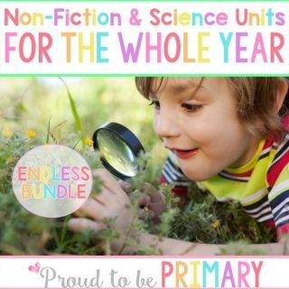 Non-Fiction & Life Sciences Units for the Whole Year by Proud to be Primary