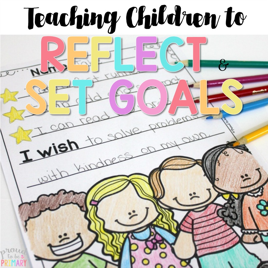 A must-read post about teaching primary children to reflect on learning and set goals using the 3 stars and a wish activity. Includes 2 FREE printables to print and use in your classroom for assessment.